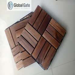 On what surfaces can you install wood deck tiles?
